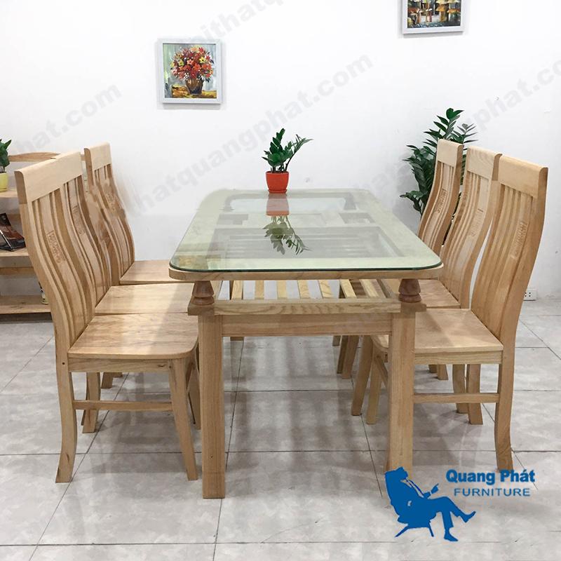 bàn ăn gỗ sồi Nga thanh lý