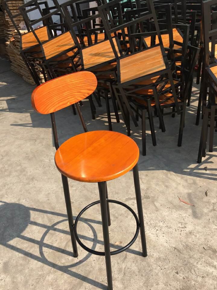 thanh lý ghế đôn cafe cao tựa lưng