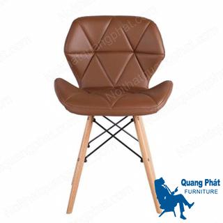 ghế cafe lưng da chân gỗ thanh lý