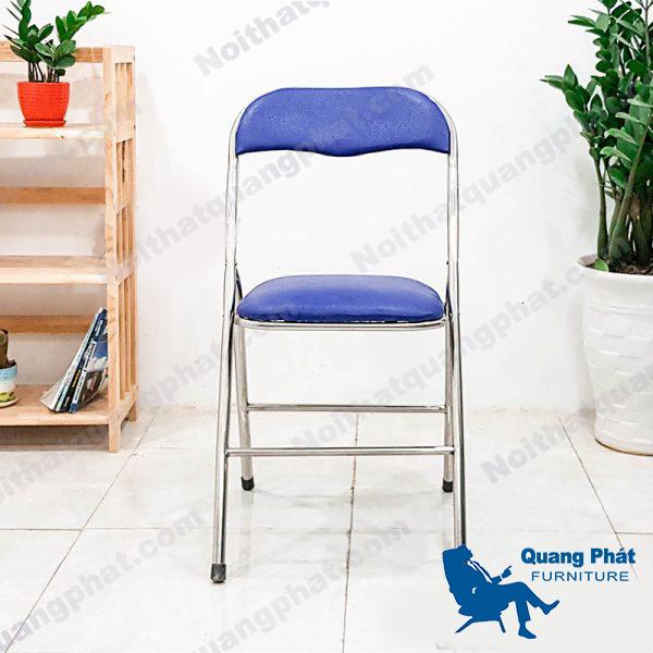 ghế gấp lưng ngắn xanh chân inox thanh lý