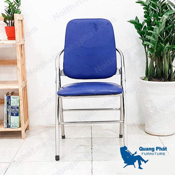 ghế gấp lưng dài chân inox thanh lý