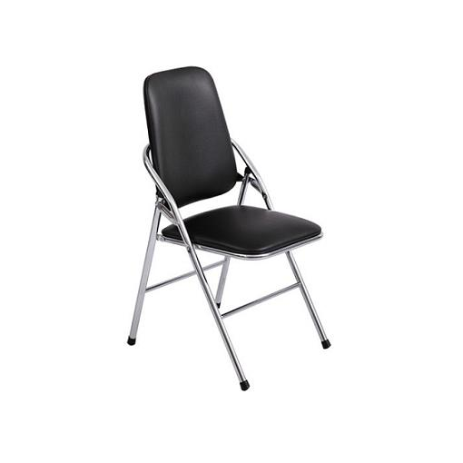 ghế gấp lưng dài đen chân inox giá rẻ