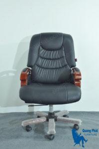 Thanh lý ghế giám đốc tay gỗ đệm - QP 06