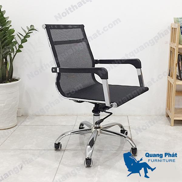ghế xoay lưới ngắn tay vuông thanh lý